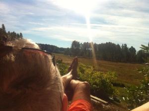 Så skönt det kan vara en lördag ute i stugan i september, sommaren har varit fantastisk.. Värme och sol och knappt någon mygg.. Underbart :)