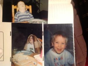 Så här go var den blivande pappan själv när han var liten ;)