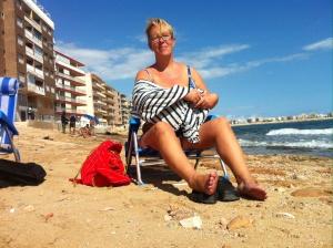 Skönt i solen vid havet..
