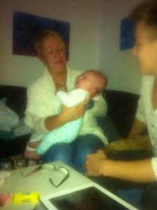Agnes, Niklas och Nenna.. I Långängarna