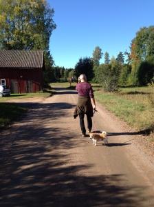 Ute på långpromenad med Doris... Matte varför stannar du?