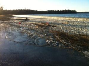 Isen börjar lägga sig på ottnaren..