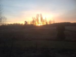 Soluppgång över Långängarna..