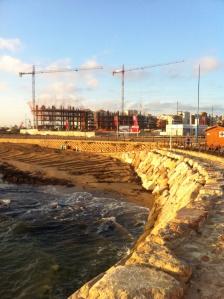 Bygget i Punta prima fortskrider...