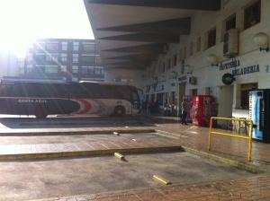 Busstationen i Torrevieja...