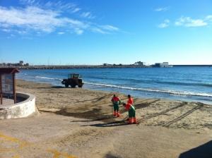 Uppsnyggning av stranden..