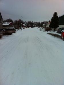 Kungsgården i går förmiddag, lite vintrigt ca 13 grader kallt