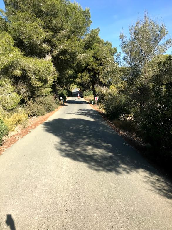 Finns många fina cykelvägar som inte är så mycket trafikerad, detta är Lo Romero området, cyklade förbi golfrangen för ett tag sedan :)